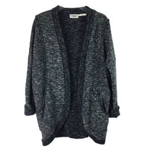 OUT FROM UNDER | cardigan open front purl knit L